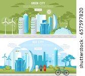 green city banner. eco city... | Shutterstock .eps vector #657597820