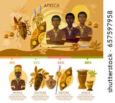 travel to africa infographic.... | Shutterstock .eps vector #657597958