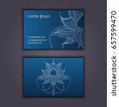 vector vintage visiting card... | Shutterstock .eps vector #657599470