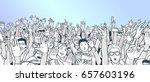 illustration of festival crowd... | Shutterstock .eps vector #657603196