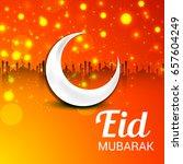 vector illustration of eid... | Shutterstock .eps vector #657604249