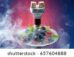 Closeup Of Hookah With Tray...