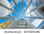 gas dehydration process to... | Shutterstock . vector #657605188