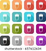 icon of a glass to illustrate... | Shutterstock .eps vector #657612634