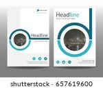 blue circle flyer cover... | Shutterstock .eps vector #657619600