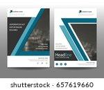blue flyer cover business...   Shutterstock .eps vector #657619660