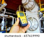 personal h2s gas detector check ... | Shutterstock . vector #657619990