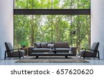 modern loft living room with... | Shutterstock . vector #657620620