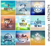summer typography design... | Shutterstock .eps vector #657629674