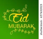 vector illustration of eid... | Shutterstock .eps vector #657632023