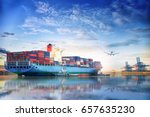 logistics and transportation of ... | Shutterstock . vector #657635230