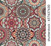 patchwork pattern. vintage... | Shutterstock .eps vector #657637630