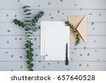 letter  envelope and couple of... | Shutterstock . vector #657640528