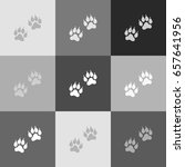 animal tracks sign. vector.... | Shutterstock .eps vector #657641956