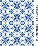 floral seamless pattern in... | Shutterstock .eps vector #657654868