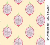 vector pitahaya exotic fruit... | Shutterstock .eps vector #657656284