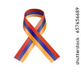 ribbon flag of armenia. vector... | Shutterstock .eps vector #657656689