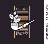 logo smokoing pipe with tobacco ... | Shutterstock .eps vector #657657340