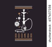 logo white hookah and fruit on...