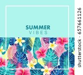 summer exotic and tropic...   Shutterstock .eps vector #657661126