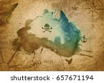 old map parchment | Shutterstock . vector #657671194