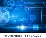 technology blue background | Shutterstock . vector #657671278