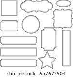 vector set vintage labels and... | Shutterstock .eps vector #657672904