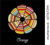 abstract orange | Shutterstock .eps vector #65767294