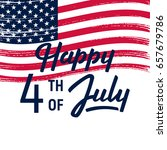 4 th of july background.... | Shutterstock .eps vector #657679786