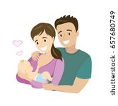 a happy married couple with a...   Shutterstock .eps vector #657680749
