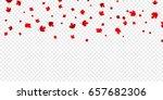 canadian maple leaves... | Shutterstock .eps vector #657682306