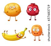 funny fruit characters isolated ... | Shutterstock .eps vector #657683719