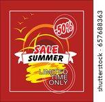 summer sale coupon template... | Shutterstock .eps vector #657688363