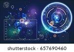 radar screen. vector... | Shutterstock .eps vector #657690460