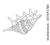 zentangle stylized cartoon... | Shutterstock .eps vector #657691780