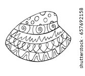 hand drawn zentangle mussel for ... | Shutterstock .eps vector #657692158