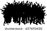 dancing people silhouettes. | Shutterstock .eps vector #657693430