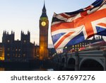 british union jack flag and big ... | Shutterstock . vector #657697276