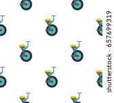 blue unicycle pattern seamless... | Shutterstock .eps vector #657699319