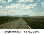 puffy white clouds and blue sky ... | Shutterstock . vector #657699898