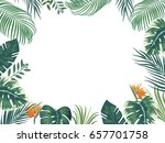 vector tropical jungle... | Shutterstock .eps vector #657701758