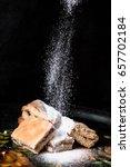 homemade sweet cookies with jam ... | Shutterstock . vector #657702184