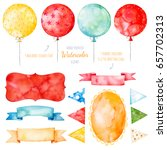 Watercolor Colorful Collection...
