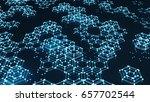 abstract geometric hexagon... | Shutterstock . vector #657702544