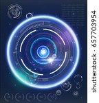 radar screen. vector...   Shutterstock .eps vector #657703954