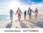 young people group on beach... | Shutterstock . vector #657704803