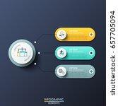modern infographic design... | Shutterstock .eps vector #657705094