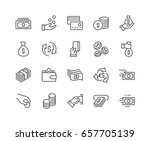 simple set of money related... | Shutterstock .eps vector #657705139