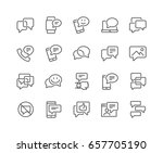 simple set of message related... | Shutterstock .eps vector #657705190