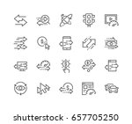 simple set of traffic related... | Shutterstock .eps vector #657705250